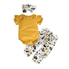 "3 Piece ""Lovely Summer""  Florals Matching Set"