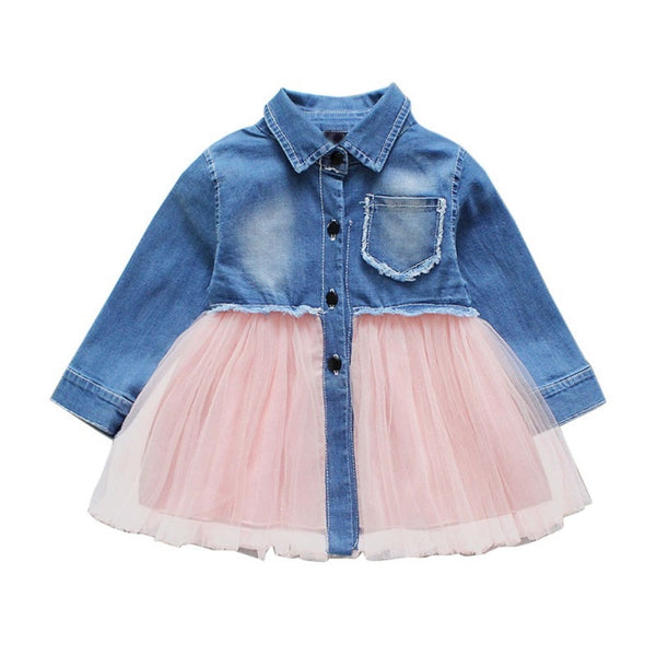 """Daring Denim"" Tulle Dress"