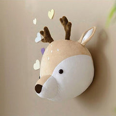 """Cute Animals' Plush Wall Mounts"