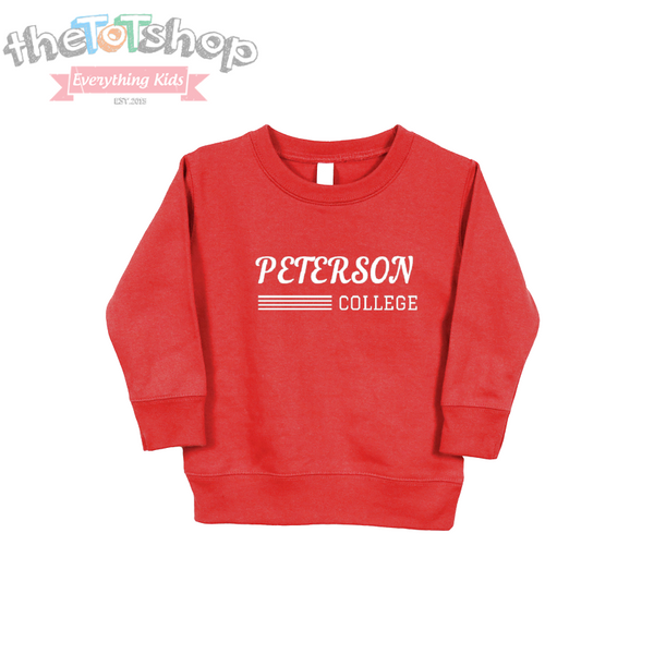 """College"" Last Name Custom Sweatshirt"