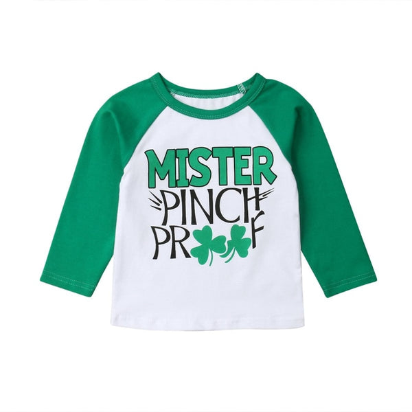 """Mr. Pinch Proof""  Boys Baseball Tee"
