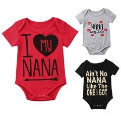 """Nana"" Short-sleeve Bodysuits"