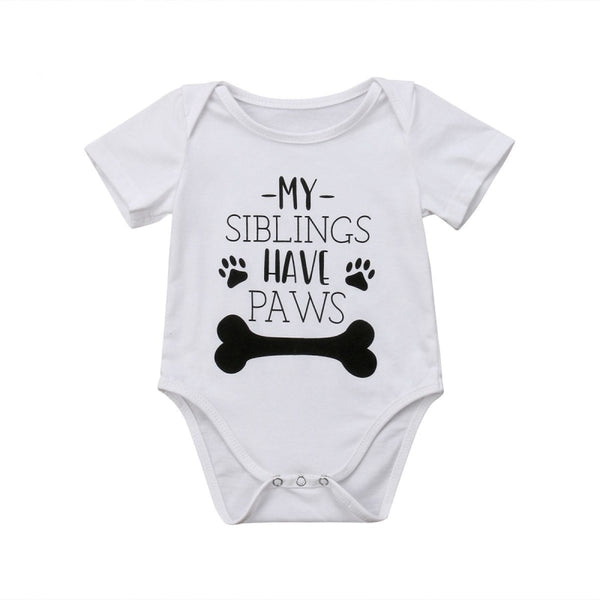 """My Siblings Have Paws"" Short-sleeve Bodysuit"