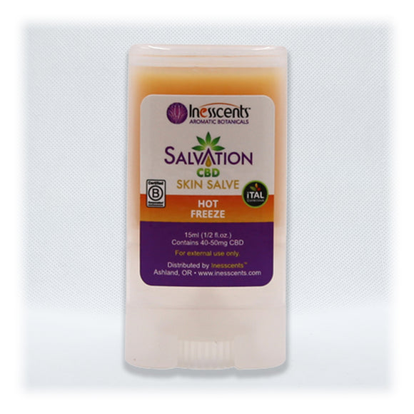 Salvation - Hot Freeze Skin Salve 0.5 oz Travel Stick