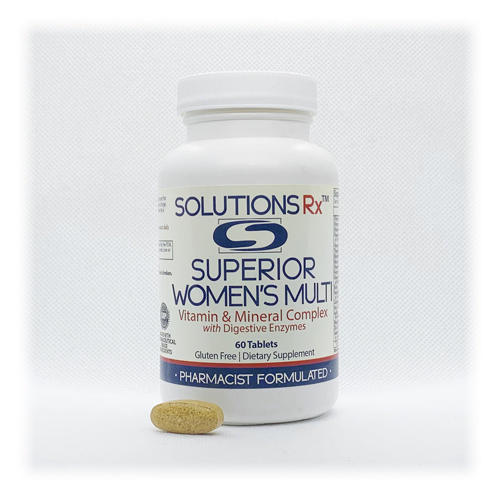 Superior Women's Multi Vitamin & Mineral Complex with Digestive Enzymes 60 Tablets