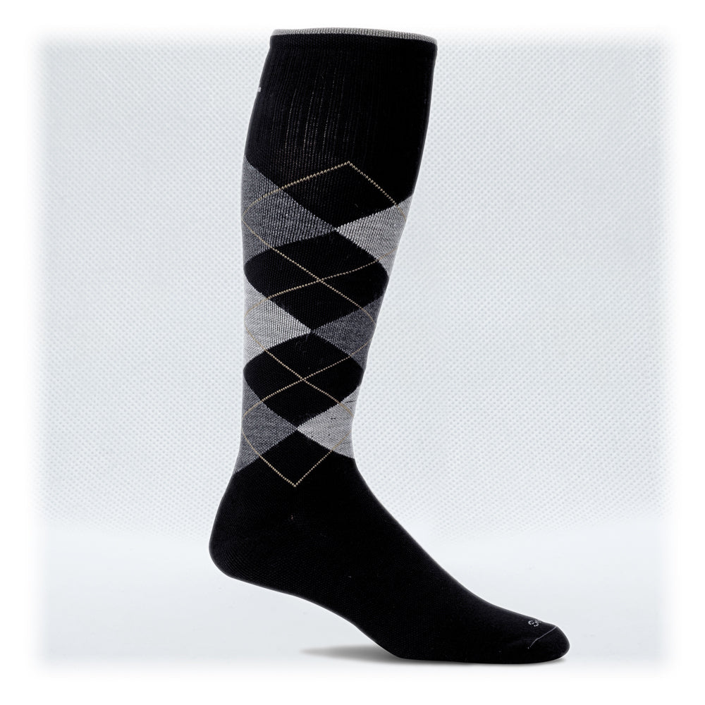 Men's Moderate Graduated Compression 15-20mmHg (Style: SW4W Elevation Black )