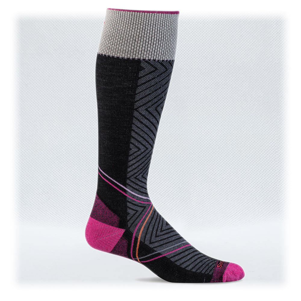 Women's Firm Graduated Compression 20-30mmHg (Style: SW42W Pulse Black)