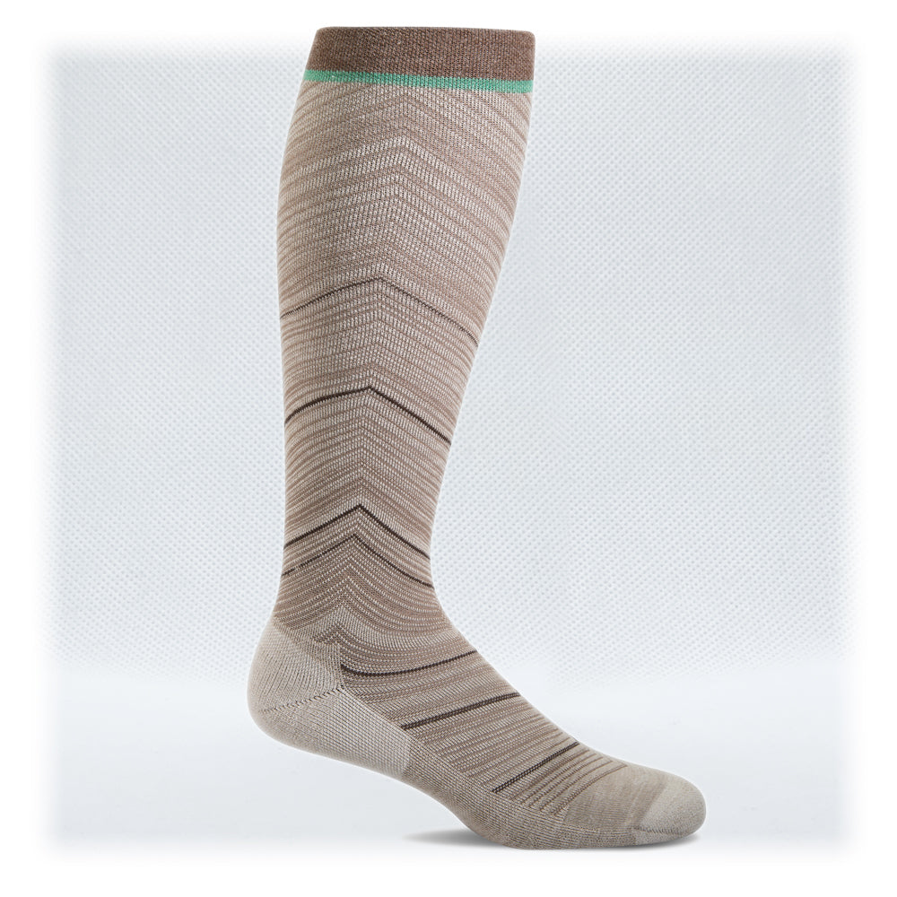 Women's Moderate Graduated Compression 15-20mmHg (Style: SW57W Wide Calf Fit Full Flattery Khaki)