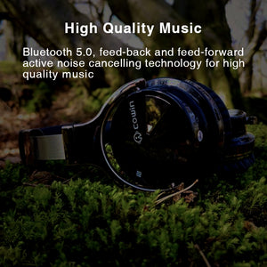 COWIN E7 Active Noise Cancelling Headphones Bluetooth Headphones with Microphone Deep Bass Wireless Headphones Over Ear