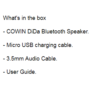COWIN DiDa עם רמקולי Bluetooth Alexa של אמזון