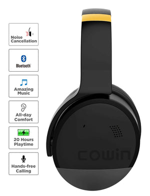 COWIN E8 | PerfectQuiet Active Noise Cancelling Wireless Bluetooth