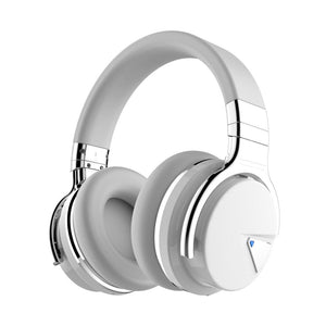 COWIN E7 Active Noise Cancelling Bluetooth Deep Bass Wireless Headphones with Microphone - Black (Renewed) Cowinaudio White