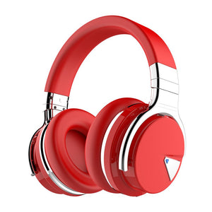 COWIN E7 | Active Noise Cancelling Wireless Bluetooth Over-ear Headphones,Red Headphone Cowinaudio