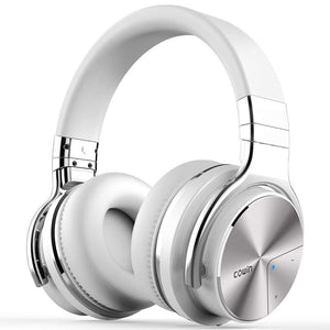 COWIN E7 PRO Active Noise Cancelling Headphones Bluetooth Headphones Wireless Headphones - (Renewed) Headphone Cowinaudio White