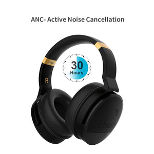 COWIN E8 | Perfect Quiet Active Noise Cancelling Wireless Bluetooth Headphones - Black (Renewed) Cowinaudio