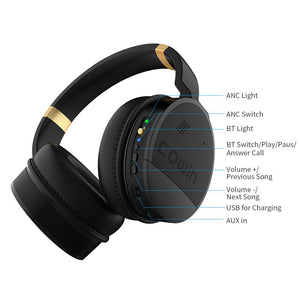 COWIN E8 | Perfect Quiet Active Noise Cancelling Wireless Bluetooth Headphones Headphone cowinaudio