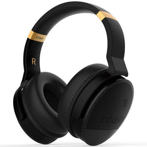 COWIN E8 | PerfectQuiet Active Noise Cancelling Wireless Bluetooth Headphone Headphone cowinaudio Hitam