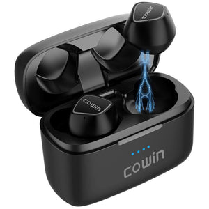 Cowin KY02 True Wireless Stereo Ouerréng Ouerelefon Cowinaudio SCHWARZ