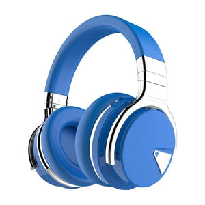 Cowin Wireless Active Noise Cancelling Headphones Cowinaudio E7 Blue