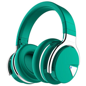 E7 Casque supra-auriculaire Bluetooth à réduction de bruit active Cowinaudio DarkGreen