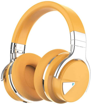 E7 Casque supra-auriculaire Bluetooth à réduction de bruit active Cowinaudio Jaune