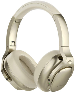 E9 Active Noise Cancelling Wireless Bluetooth Headphones Cowinaudio Gold