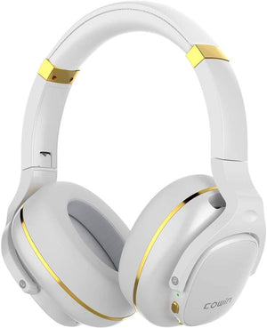 E9 Active Noise Cancelling Wireless Bluetooth Headphones Cowinaudio White