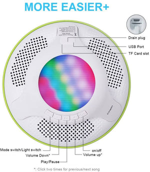 SWIMMER Floating Waterproof Bluetooth Wireless Shower Speaker Speaker Cowinaudio