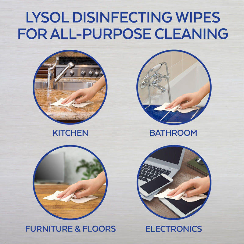 Lysol Advanced Cleaning Disinfecting Wipes Variety Pack 5 pk./72 ct.
