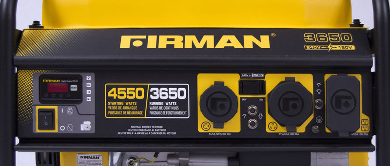 Firman 4550W Peak/3650W Rated Gas-Powered Generator