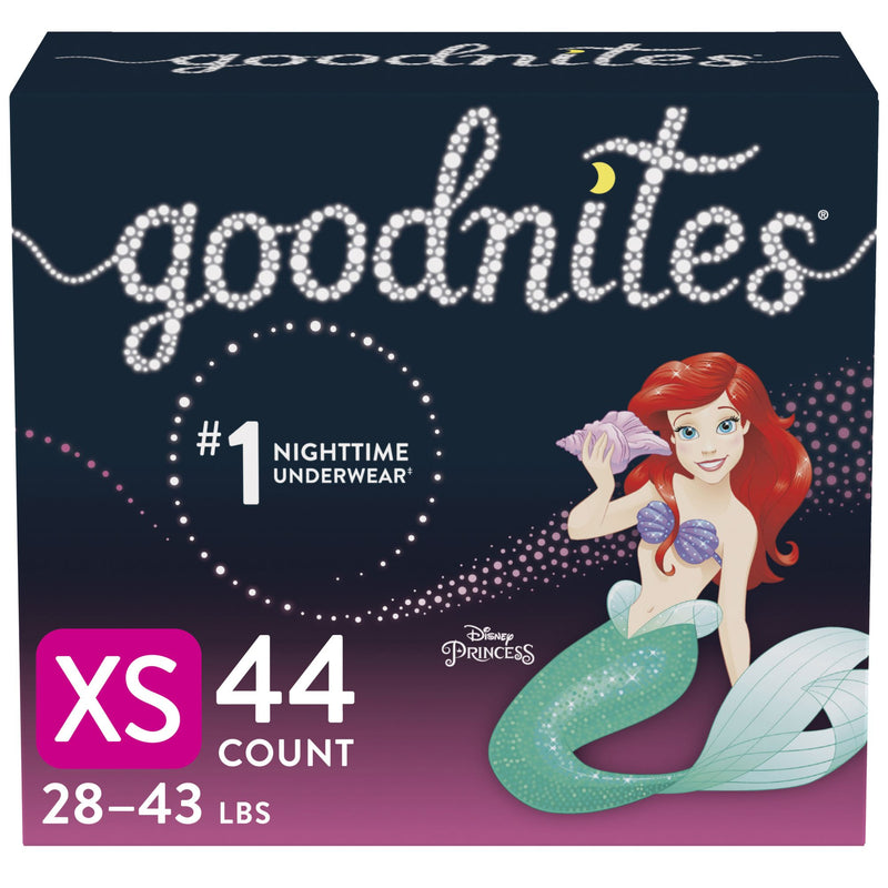 GoodNites Bedtime Bedwetting Underwear for Girls Size XS 44 ct.