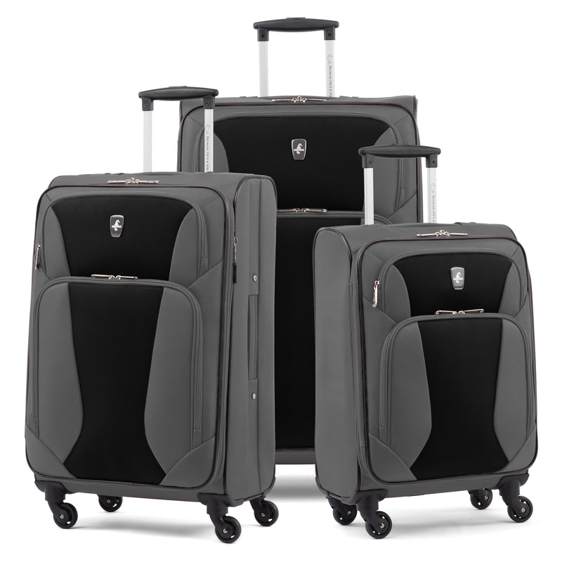 Atlantic 3-Pc. Expandable Spinner Set - Dark Gray