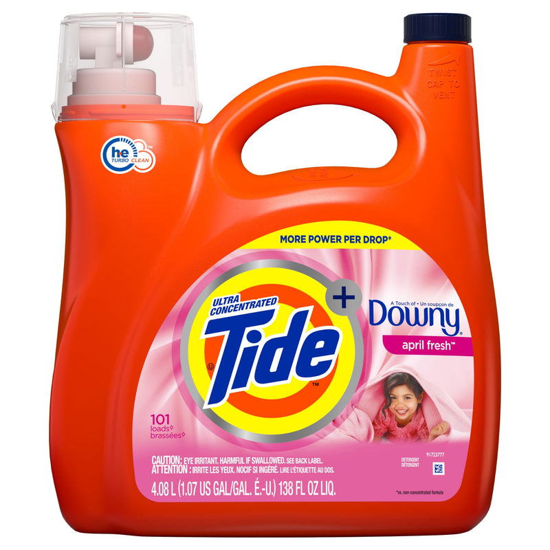 Tide w/ Downy April Fresh Ultra Concentrated Liquid Laundry Detergent 138 fl. oz.