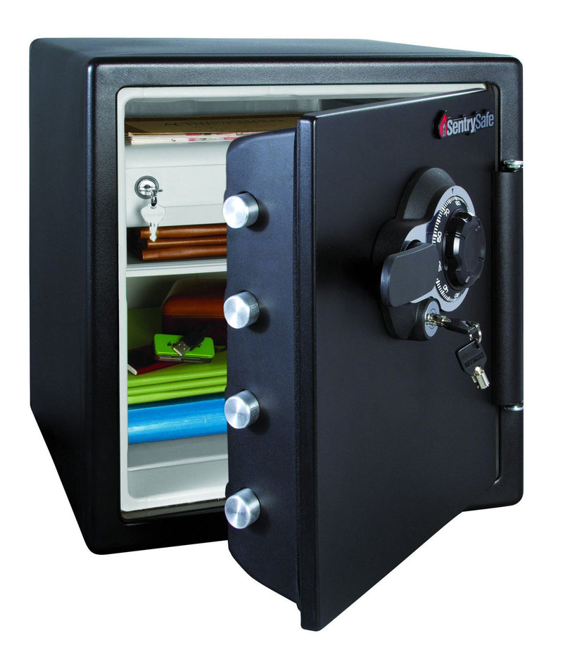 SentrySafe Fire and Water-Resistant Safe w/ Combination Lock 1.2 Cu.Ft - Black