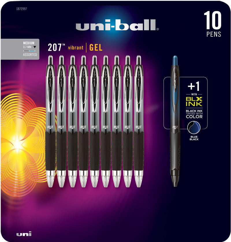 uni-ball 207 Gel Pen 10 pk. - Black