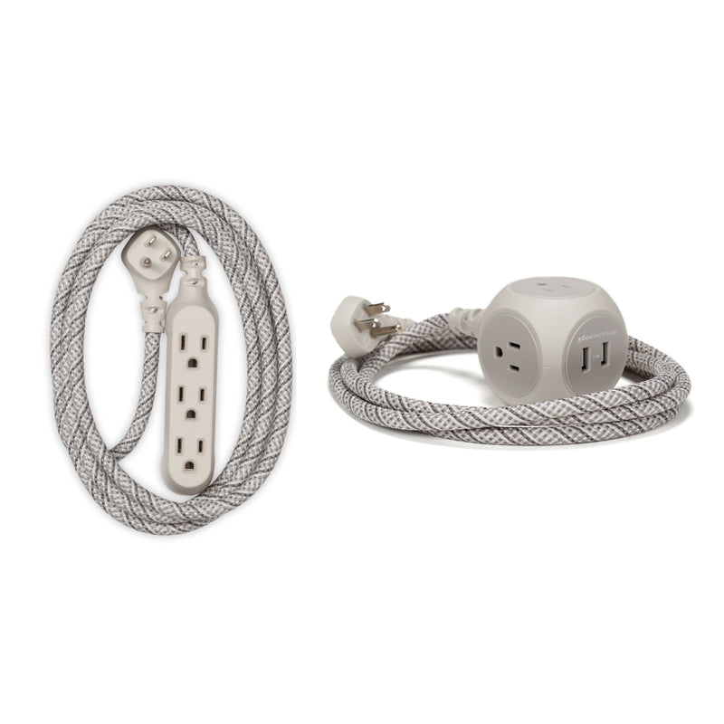 360 Electrical Habitat Extension Cord Combo Pack - Gray and Blue