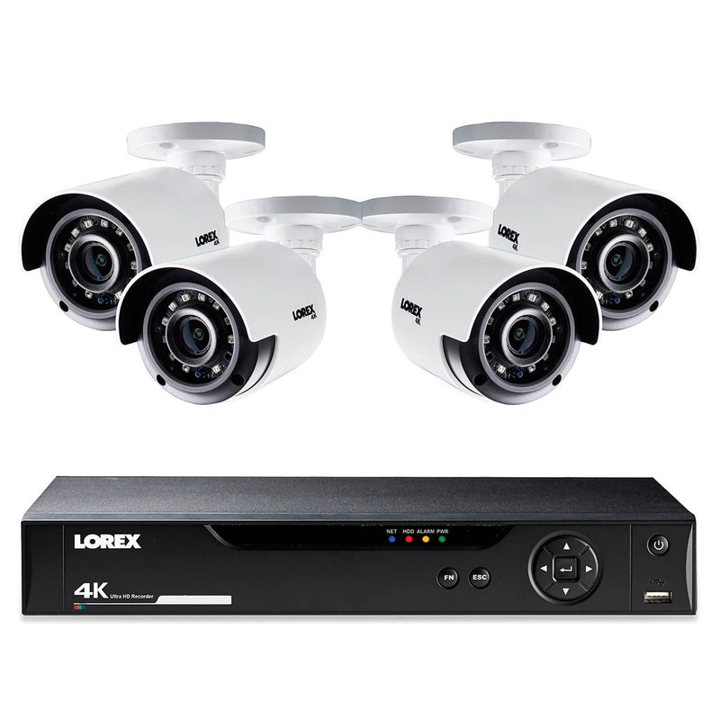 Lorex 8-Channel 4-Camera 4K Security System w/ 1TB HDD DVR