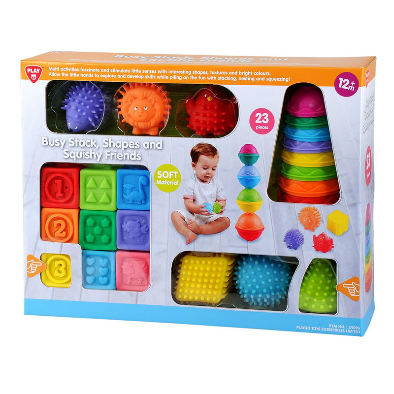 Playgo Busy Stack Shapes and Squishy Friends