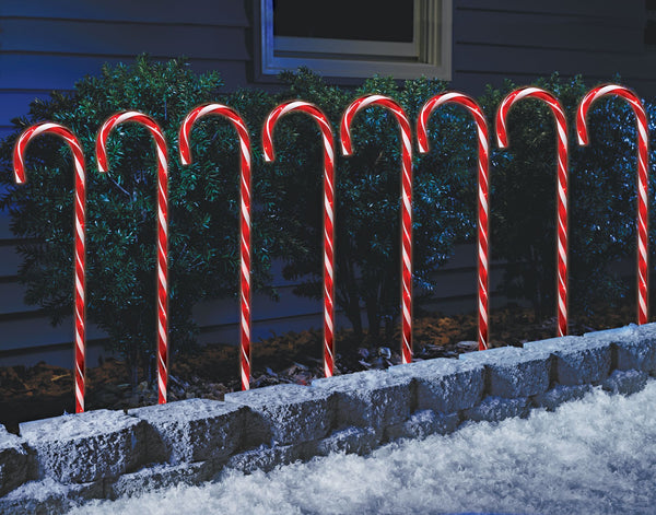"Sylvania 24"" Candy Cane Pathway Lights 8 pk."