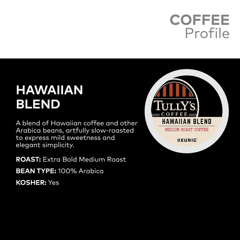 Tully's Coffee Hawaiian Blend K-Cup Pods 180 ct.