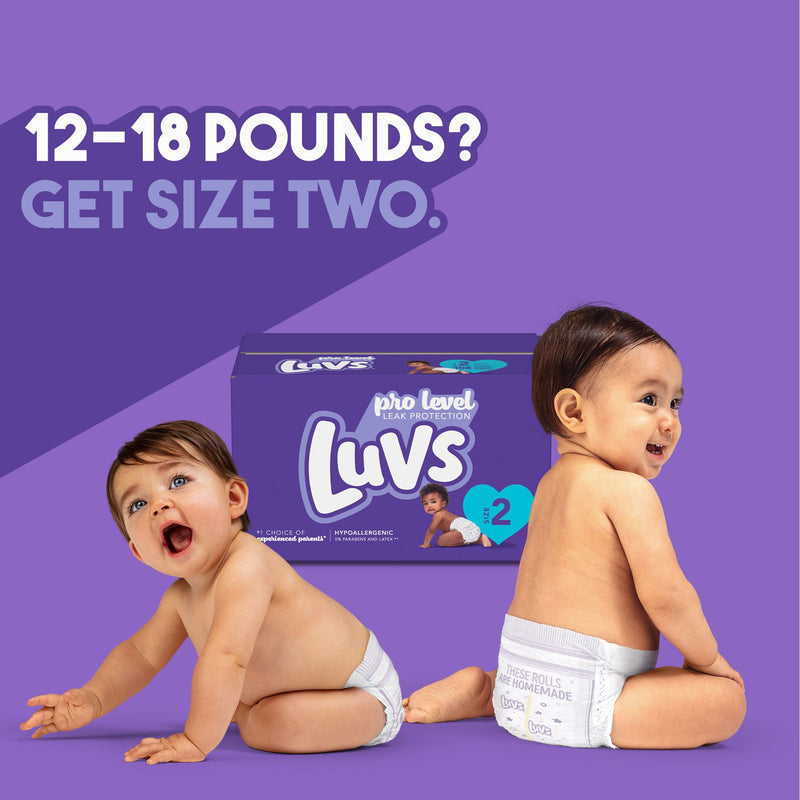 Luvs Triple Leakguards Diapers Size 6 124 ct.