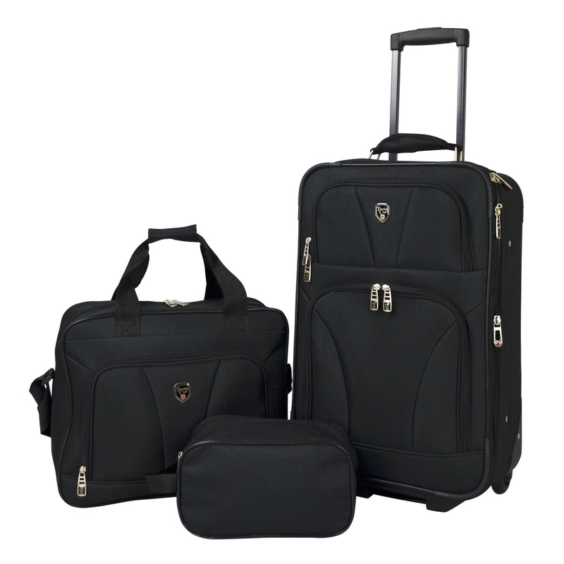 Travelers Club 3-Pc. Carry-On Luggage Set