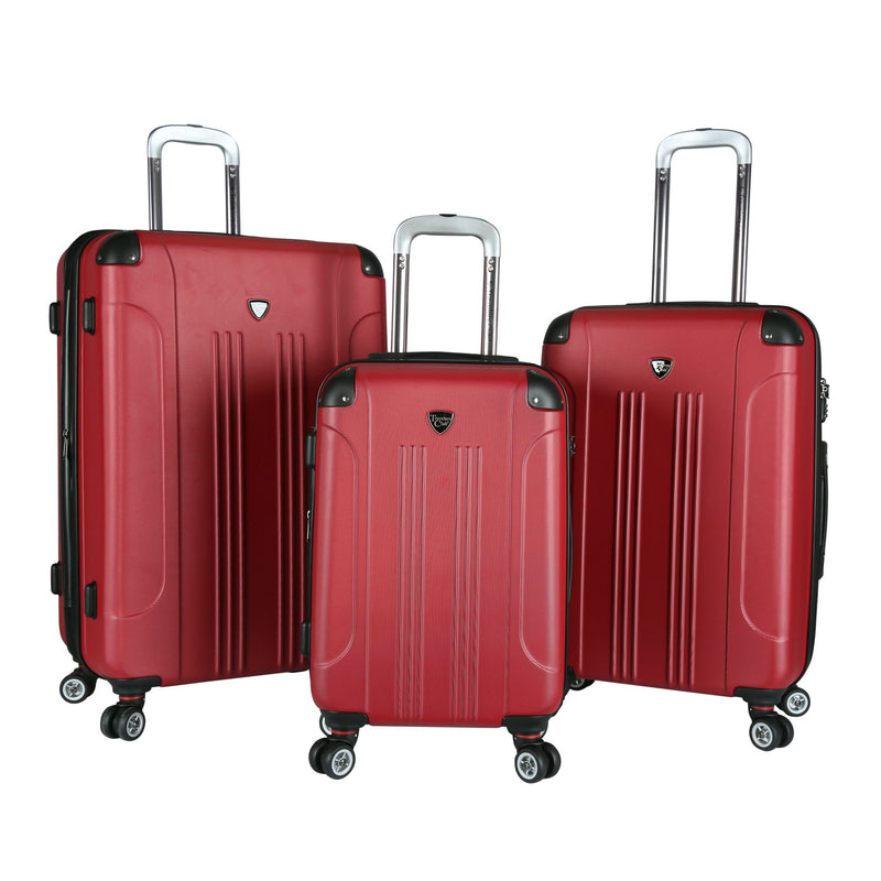 Travelers Club 3-Pc. TSA Lock Luggage Set - Red