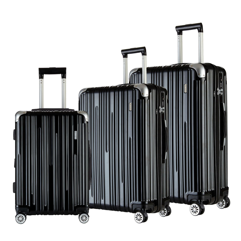 Travelers Club 3-Pc. Premium TSA Lock Luggage Set - Black