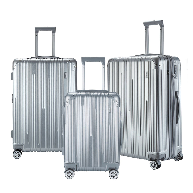 Travelers Club 3-Pc. Premium TSA Lock Luggage Set - Silver