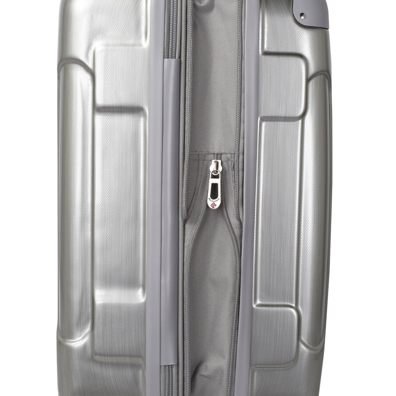 Travelers Club 3-Pc. Expandable Spinner Set - Silver