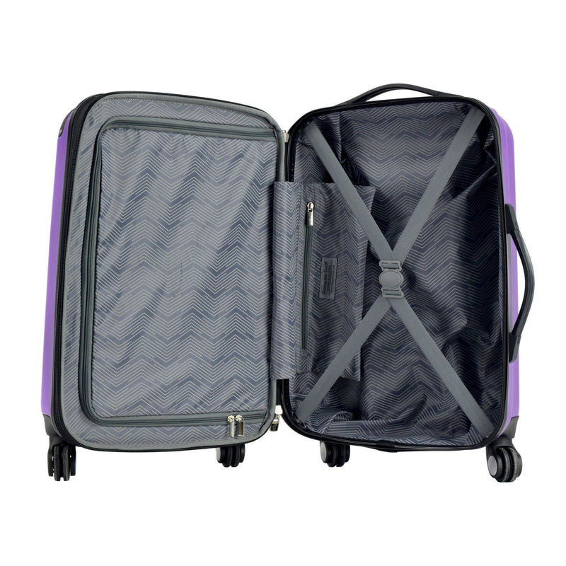 "Travelers Club 20"" Expandable Spinner Carry-On - Purple"