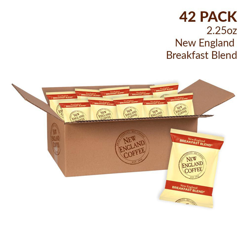 New England Coffee Breakfast Blend Coffee Individual Packs 42 pk./2.25 oz.