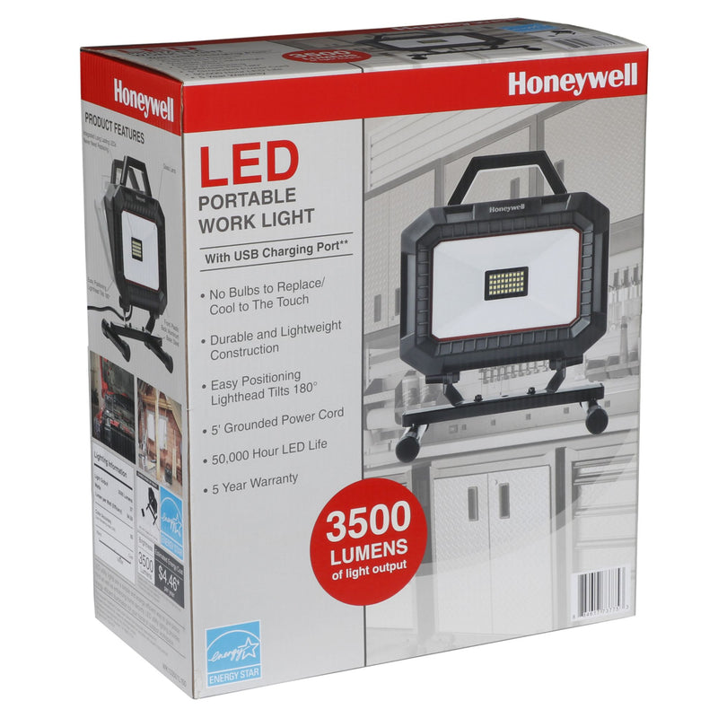 Honeywell LED Corded Work Light w/ USB Charger