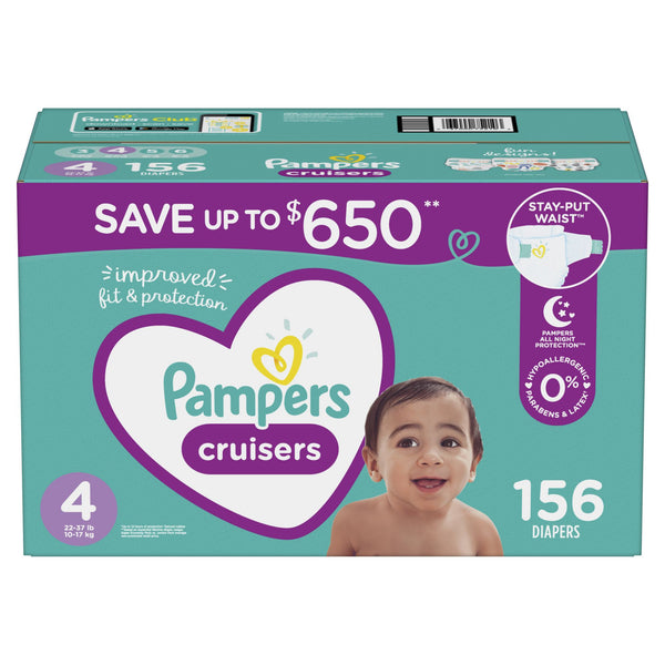 Pampers Cruisers Diapers Size 4 156 ct.